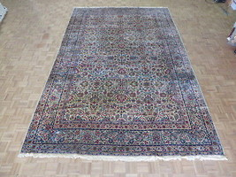 9'7 X 15 Hand Knotted Ivory Persian Fine Antique Kerman Oriental Rug G2851 - $7,989.06
