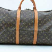 Louis Vuitton Monogram Keepall 55 Boston Bag M41424 Lv Auth 5872 - $540.00