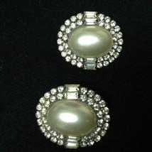 Vintage, Elegant, Faux Pearls Clip Earrings - $14.20