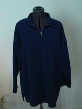 Vintage 80s 90s Emporio Gitano Knit/Weave mock neck 3/4 zip  - $10.79