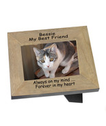 Cat Memorial, A Landscape Wood frame personalised for a much loved pet  |1 - $31.44