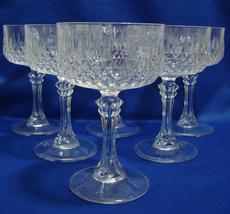 Set of 6 J. G. Durand Cristal d'Arques Longchamp Champagne Goblets Tall ... - $28.99