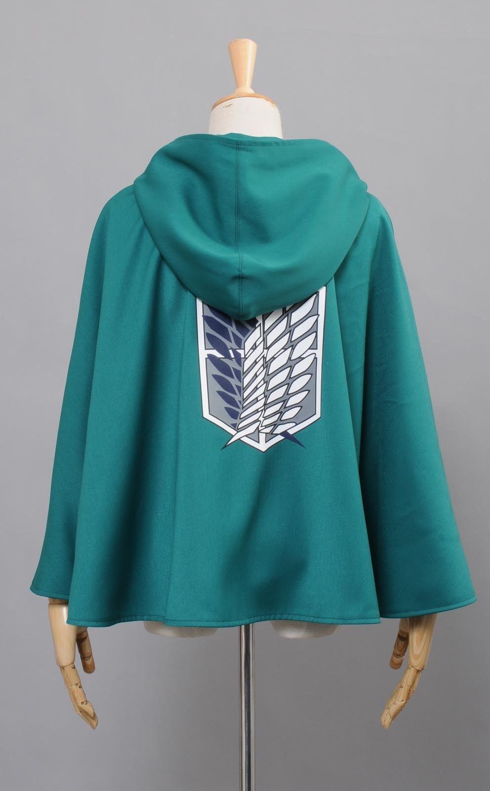 Romantic Attack On Titan Shingeki No Kyojin Hoodie Black Green Jacket Costume Uk Seller Clothing, Shoes & Accessories
