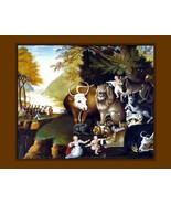 """Edward Hicks-Peaceable Kingdom-c.-1834  Ark Animals, 11 X 14""""  canvas ar... - $23.99"""