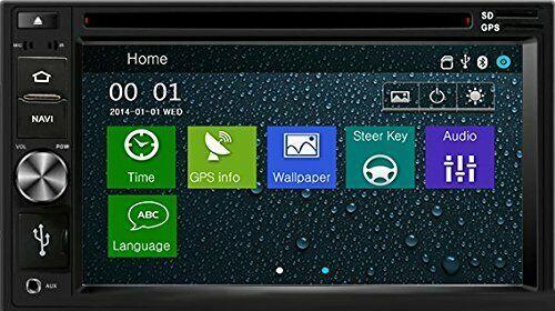 DVD CD GPS Navigation Multimedia Bluetooth Radio and Dash Kit for Honda Fit 2011 image 4