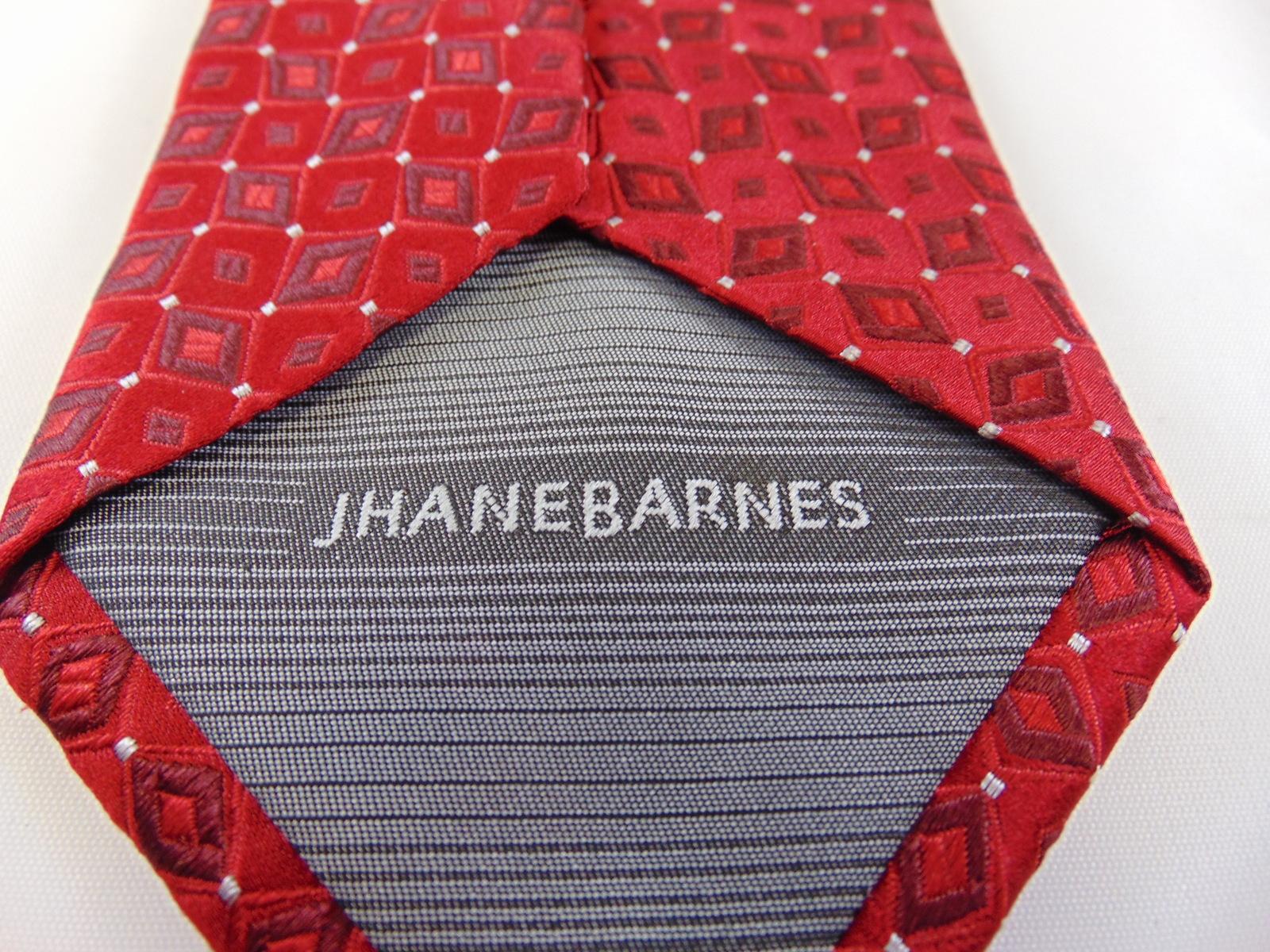 Men's Tie Jhane Barnes silk red diamonds