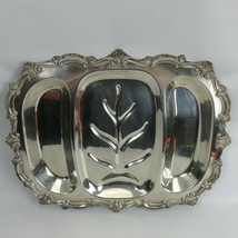 W&S Blackinton fine Silver Plate Serving Tray Chippendale Platter 718 18... - $105.99