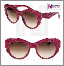 Dolce & Gabbana Mamas Brocade Red Brown Mesh Special Fit Sunglasses DG42... - $227.70