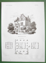 ARCHITECTURE PRINT : Cologne Building of Hulms Infirmary Hospital - $12.15