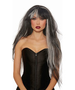 Dreamgirl Extra Long Haunted Ghost Grey Wig Halloween Costume Accessory ... - $16.44