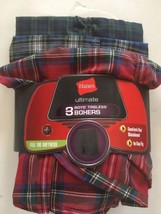 3 Pack Of Hanes Boys Ultimate Tagless Boxers Small - $12.59