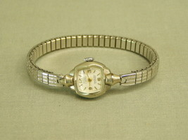 Vintage Ceres Ladies Wrist Watch 17 Jewel Swiss 10K RPG 1950's silver fi... - $11.40