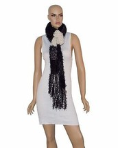 Charter Club Women's Scarf Black with White Oblong Soft Chenille Fringe $48 - ₨3,339.44 INR