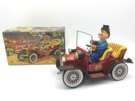 NOMURA TOY  1950s Classic car riding gentleman Toy Tin plate Used Rare B41 - $766.20