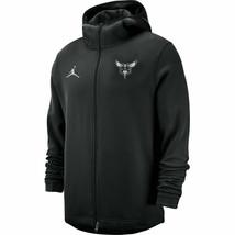 Jordan Nike Mens Black Charlotte Hornets Showtime Zip Jacket Hoodie New ... - $69.29