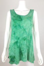 Dressbarn Womens Size Large Green Sleeveless Blouse Tank Top Shirt With ... - $14.50