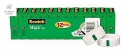 Clear Magic Tape Refill 34 x 1000 Inch 12 Rolls Matte Home School Office... - $24.10