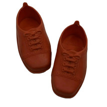 Vintage Ideal Toy Doll Shoes 2 7/8 Inch Long Flexible Plastic Red 1971 - $22.99