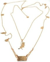 Double Necklace Silver 925, 100 cm, Girl Swing, Flowers Leaves, le Favole image 1