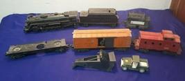 LIONEL O Guage 2026 Steam Engine w Coal Tender plus 3 Rail Cars & Caboos... - $67.17