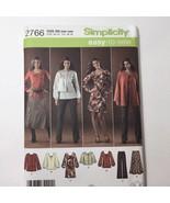 Simplicity 2766 Size 20W-28W Women's Pants Skirt Jacket Knit Dress Tunic - $11.64