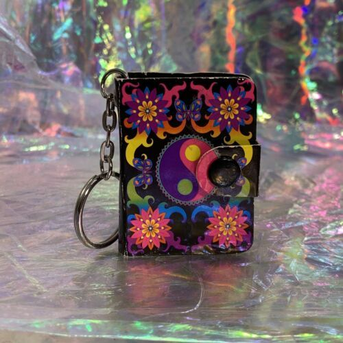 V Nice Lisa Frank Dream Writers Mini Notebook Keychain Yin Yang ☯️ 90s