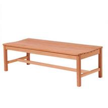 VIFAH V025 1 Outdoor Baltic Wood Garden Backless Slatted Seat Bench 5 Feet - $146.90