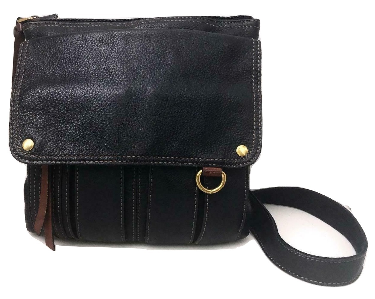 011e7da7ea Fossil ~ Morgan Traveler Crossbody Leather Shoulder Bag ~ Organizer Pocket  Back - £37.63 GBP