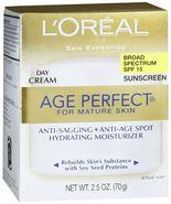 L'oreal Age Perfect for Mature Day Cream SPF 15 - 2.5 OZ - $9.89
