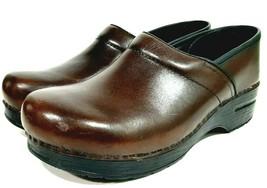 Dansko Women's Nurse's Professional Clogs Shoes Brown Size 41 Leather - $45.53