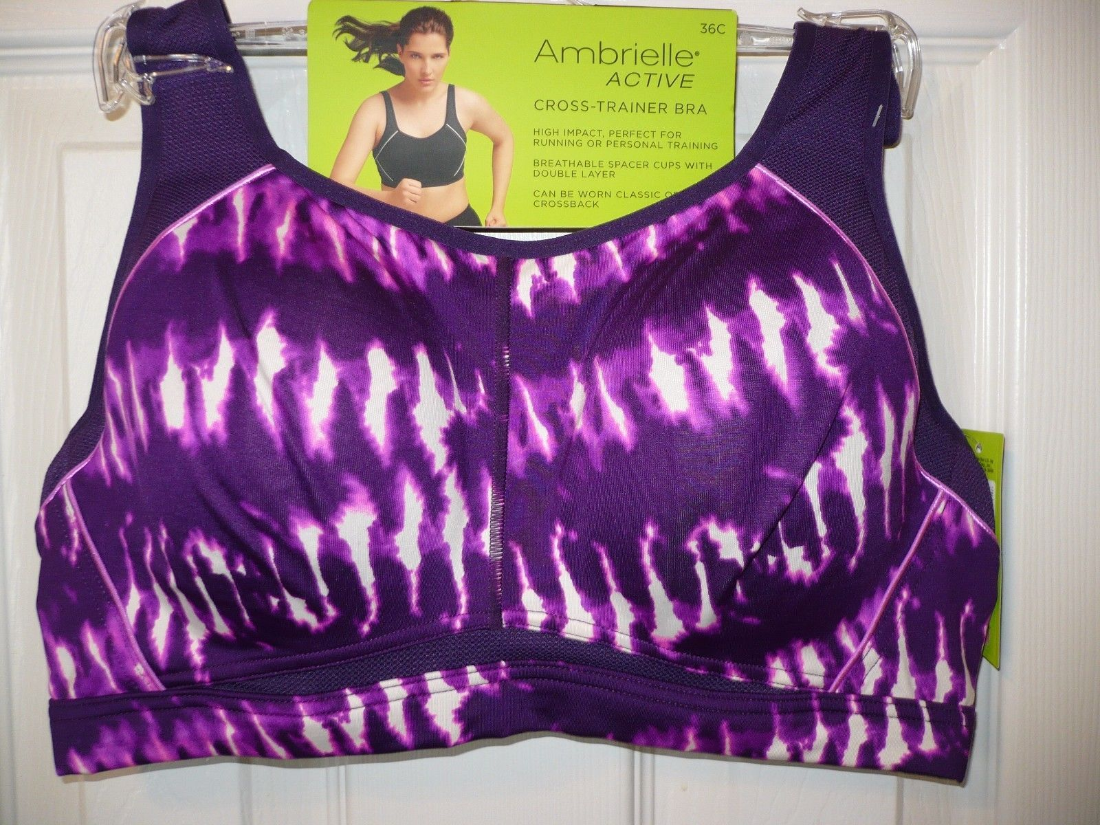 c08296120f Ambrielle Active Cross Trainer Bra Size 36C and 50 similar items. 57