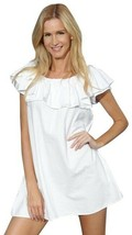 ALGECIRAS Organic Cotton Ruffle Shift Dress - $62.00