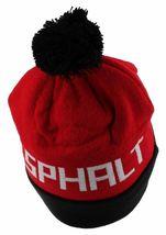 Asphalt Yacht Club Mens Red Black Big A Cuff Fold Skate Beanie Winter Hat NWT image 3