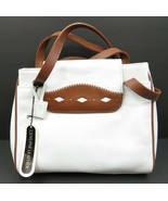 "Vintage Giani Bernini White Pebble Genuine Leather Handbag Bag Purse 10""... - $65.00"