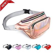 swelldom Fanny Pack Belt Bag, Holographic Fanny Packs Women Men Kids, Fashion Wa