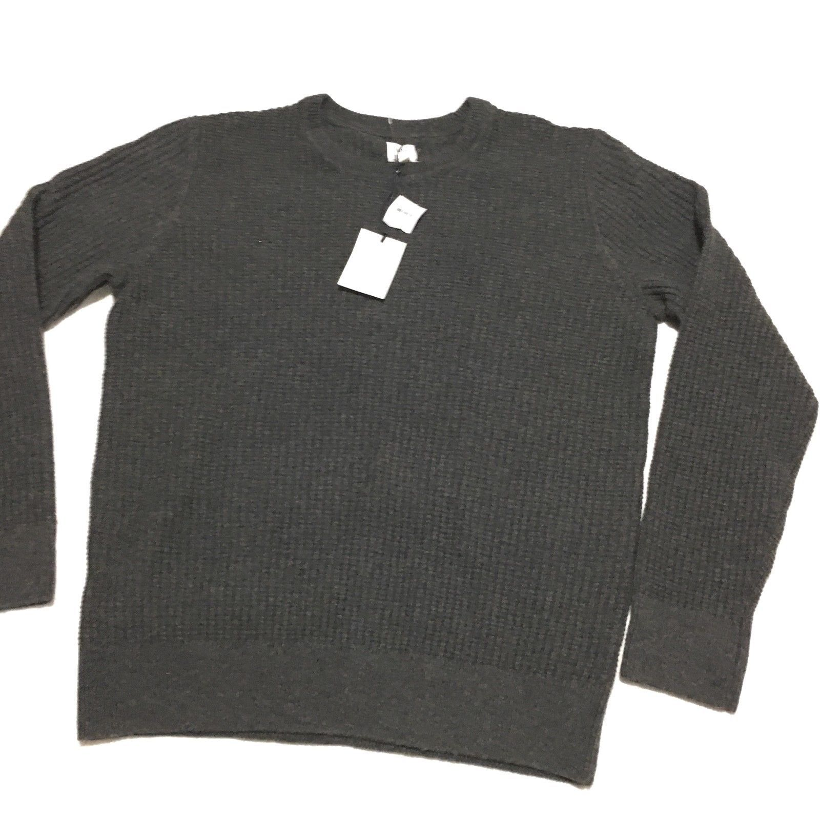 NWT GAP Men's Gray Wool Blend Knit Crew Neck Sweater Large - $24.30