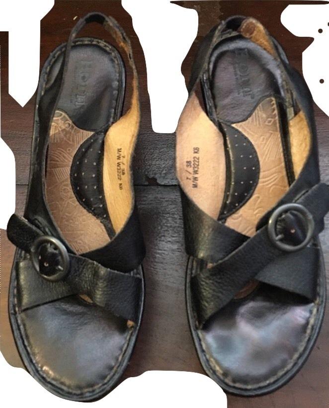 3140d4186941 BORN Womens Sz 7 M   38 EUR Black Leather and 38 similar items