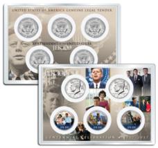 JOHN F. KENNEDY JFK100 Birthday 2017 JFK Half Dollar 5-Coin Set LIFE & T... - $29.95