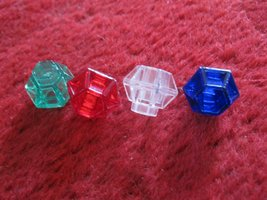 1981 DragonMaster Board game piece: set of 4 jewels - $9.00