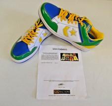 Converse Weapon Basketball Green Africa 14 DWAYNE WADE Personal Shoes w COA #1 - $346.49