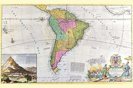 Antique Map of South America by Hermann Moll - Art Print - $19.99+