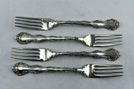 """4 pc. Strasbourg by Gorham Sterling Silver 7 1/2"""" Place Size Fork 6.7 oz. Total - $197.99"""