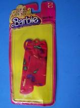 1981 Best Buy Fashions 4 Barbie Doll Red Knit Print Dress w/Ties $1468 New Nrfp - $21.78