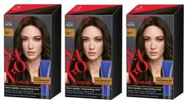 (3) Revlon Salon Color 3 Natural Black Booster Kit Luminous Gray Coverage - $28.04