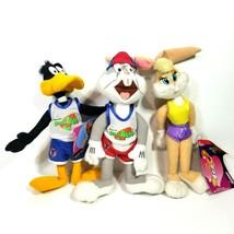 "Vintage 1996 McDonalds Space Jam Happy Meal Toy 9"" Plush Dolls Set of 3  CC - $49.99"