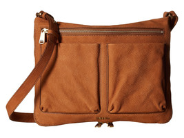 NWT FOSSIL Piper Leather Camel Crossbody ZB6816235 - $101.97