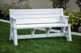 Outdoor Garden Bench Backyard Picnic Table Portable Camping Tables Bench... - $124.60