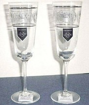 Lenox AUTUMN LEGACY Champagne Flute Set of 2 Etched Scroll $80 New - $76.90