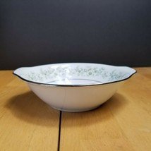 Noritake Savannah Lugged Cereal Bowl White & Multi-Colored Floral Rim  #2031 - $5.20