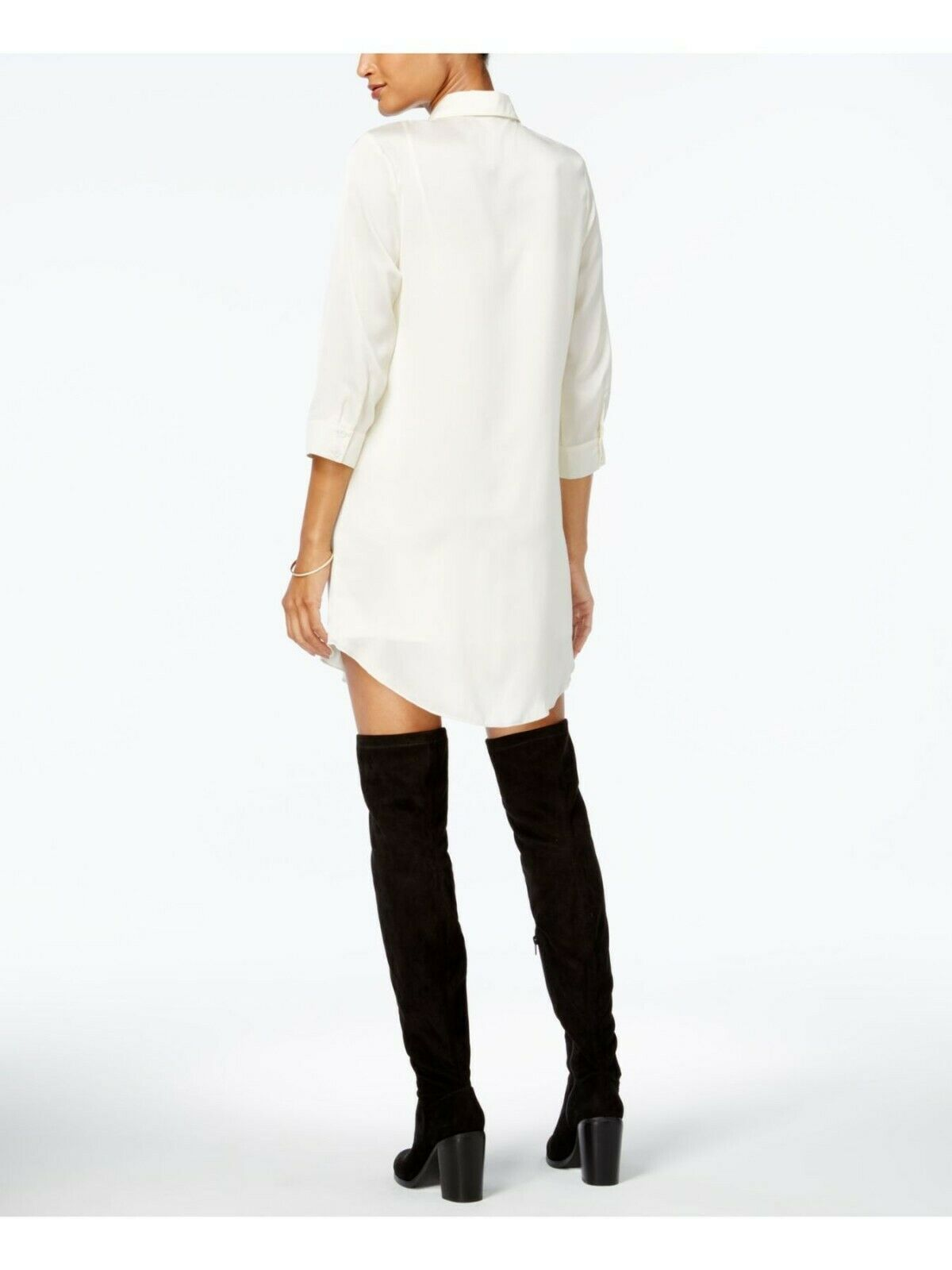 Primary image for Kensie Ivory 3/4 Sleeve Collared Mini Shirt Dress - Size XS